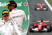 Valtteri Bottas Lewis Hamilton Mercedes Rubens Barrichello Michael Schumacher Ferrari