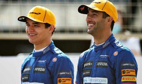 Lando Norris and Daniel Ricciardo get serious for McLaren despite being  F1's funny guys | F1 | Sport | Express.co.uk