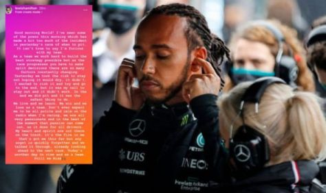 Lewis Hamilton releases statement after Mercedes talks over Turkish GP pit call