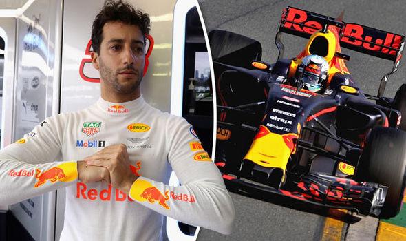 Daniel Ricciardo, Red Bull F1 driver, in Australian Grand Prix action
