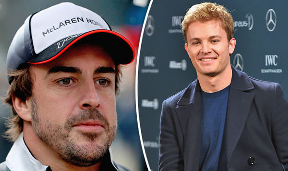 Nico Rosberg and Fernando Alonso F1 drivers