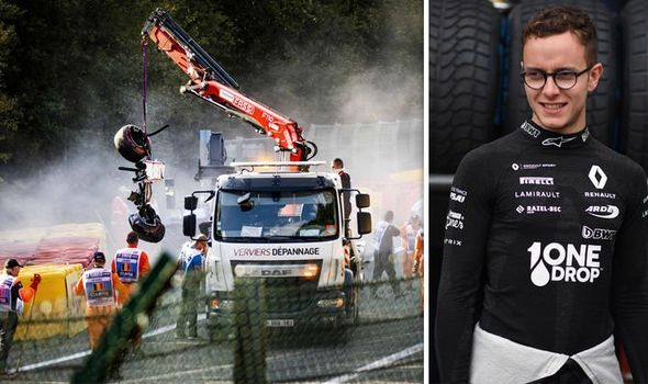 The F2 feature race was cancelled after a horror crash at Spa