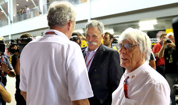 Bernie Ecclestone and Chase Carey
