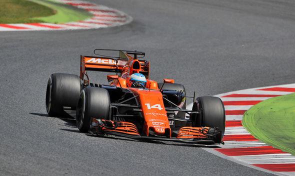 Fernando Alonso in his McLaren F1 car