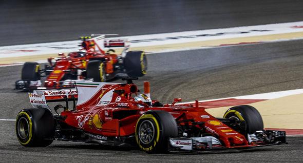 Ferrari F1 cars at the Bahrain Grand Prix