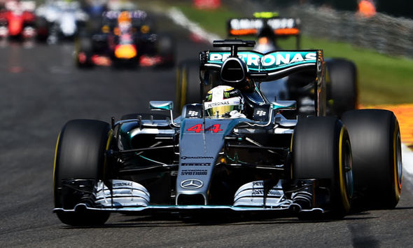 Lewis Hamilton driving for Mercedes