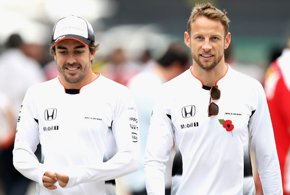 McLaren team-mates Jenson Button and Fernando Alonso