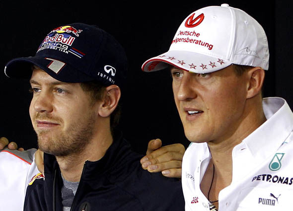 Vettel and Schumacher