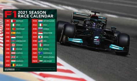 F1 calendar: Full Formula One schedule for 2021 including all 23 Grand Prix race dates