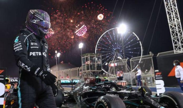 Lewis Hamilton fires Max Verstappen warning after winning Bahrain Grand Prix
