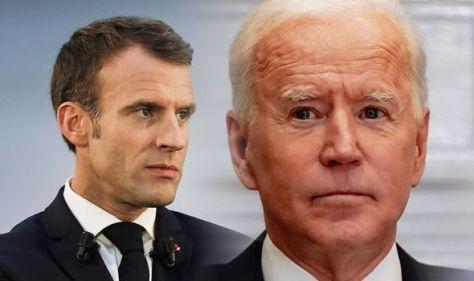 The remarkable statement Joe Biden and Emmanuel Macron gave after tense call