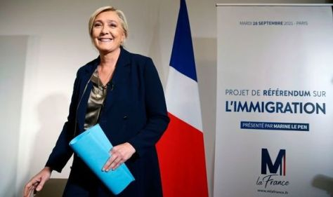 Marine Le Pen announces 'full plan to take back control' with Immigration referendum bid