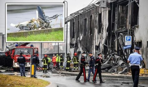 Milan plane crash: Eight dead after private airplane smashes into office building