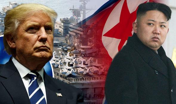 Image result for us navy carrier strike group heading for North Korea