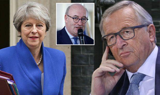 Theresa May, Juncker and Phil Hogan
