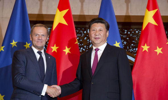 Mr Tusk has changed his tune since he visited China in July last year