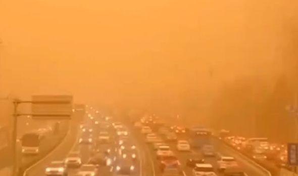 China news Beijing sandstorm video update