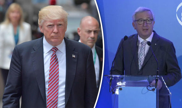 Donald Trump was warned not to compare trade surplus to EU, by Jean-Claude Juncker