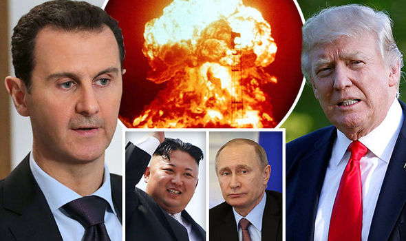 Donald Trump, Bashar al-Assad, Putin, Kim Jong-un