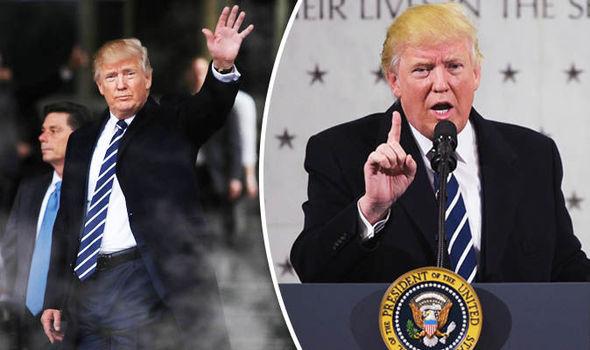 Donald Trump in CIA visit