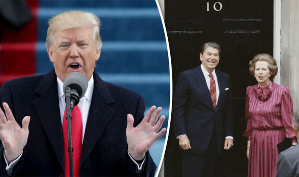 Donald Trump, Ronald Regan and Margaret Thatcher