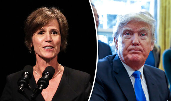 Donald Trump and Sally Yates