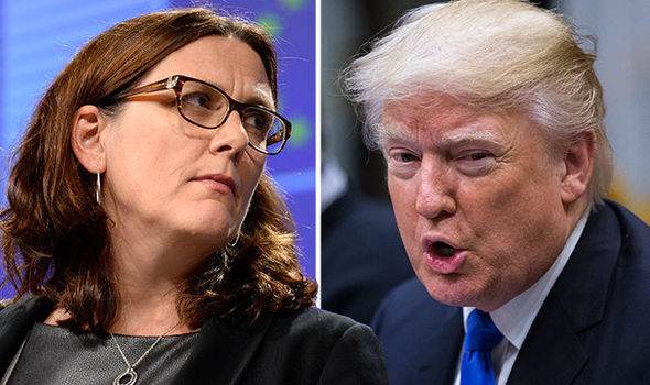 Cecilia Malmstrom and Donald Trump