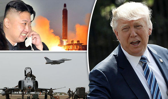 Donald Trump with war drills & Kim Jong-un
