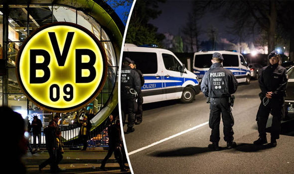 The aftermath of the Dortmund explosion