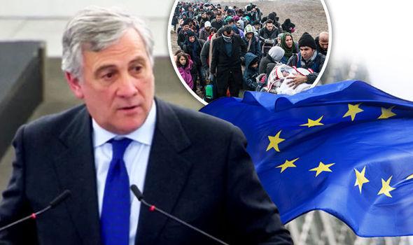 Tajani and flags
