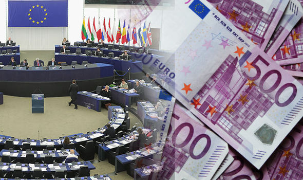 EU Parliament and euros