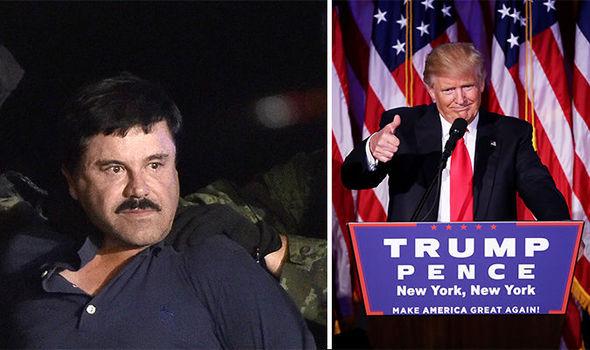 Image result for donald trump vs el chapo