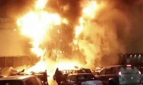 Fire in the Rio shopping centre