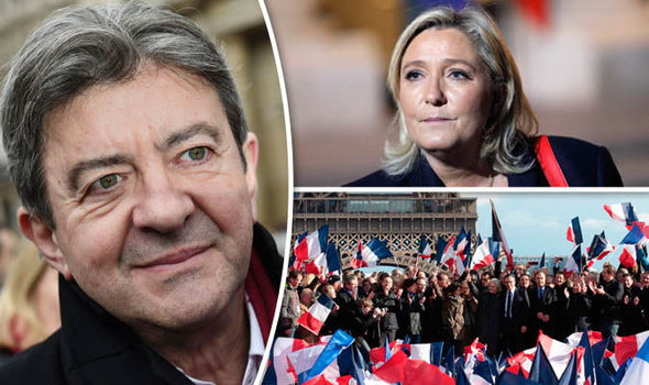 French election poll Le Pen Macron support surge Melenchon Fillon