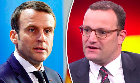 Emmanuel Macron and Jens Spahn