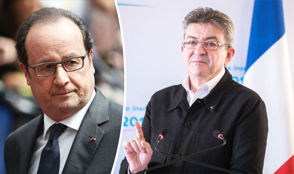 Hollande Melenchon Le Pen french election
