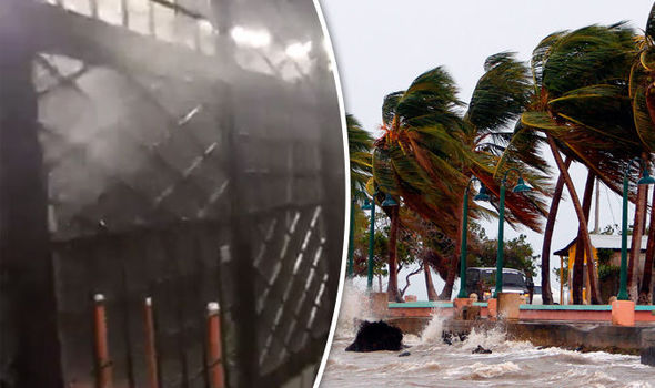 Hurricane Maria: Clip captures speed of storm as it lashes ...