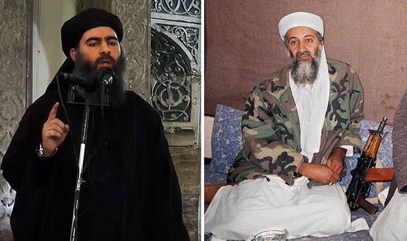 Abu Bakr al-Baghdadi and Osama bin Laden