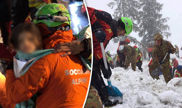 Italy avalanche rescue