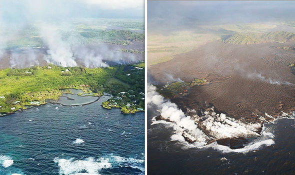 Kapoho Bay before and after