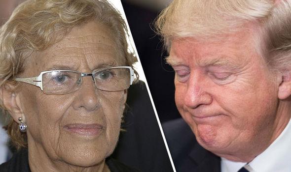 Manuela Carmena/Donald Trump