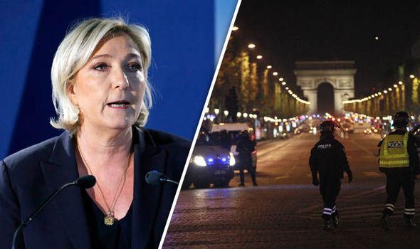 Marine Le Pen and Paris shooting