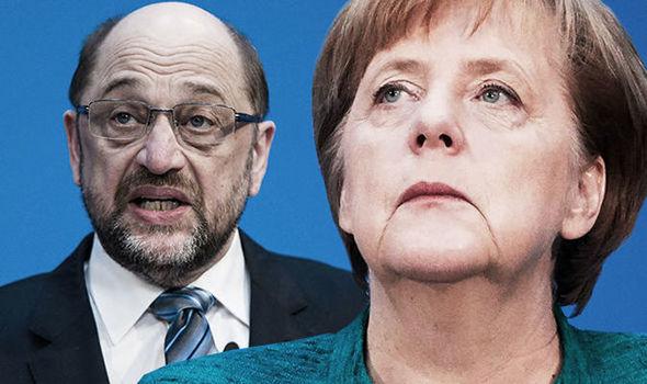 Martin Schulz/Angela Merkel