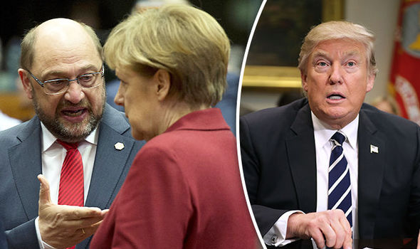 Martin Schulz heavily criticised Donald Trump
