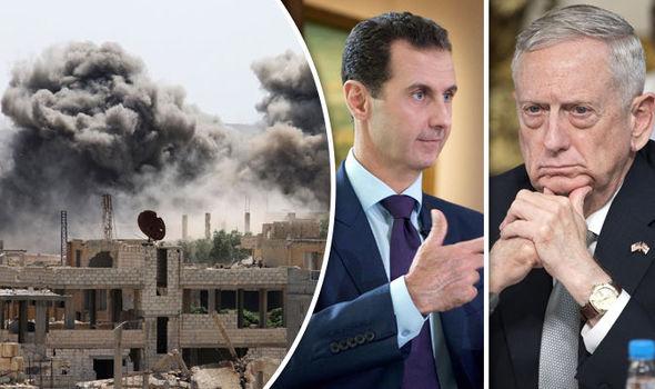 Mattis strikes Assad's military