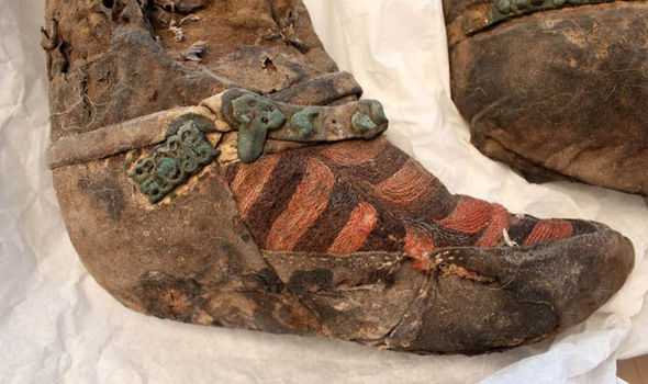 The Mongolian woman's foot
