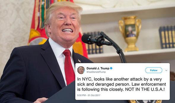 New York attack: Donald Trump has tweeted his response