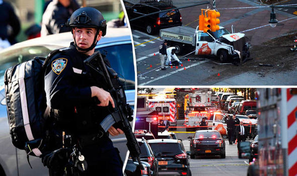New York terror attack in pictures