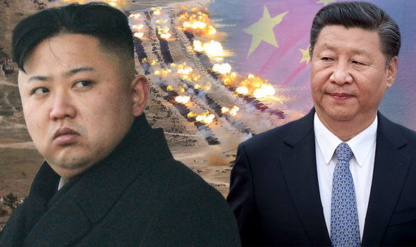North Korea: Kim Jong Un and Xi Jinping  North Korea World War 3 SHOCK: Kim Jong-un could fire missiles at China NEXT WEEK | World | News North Korea Kim Jong Un china Xi Jinping 865499