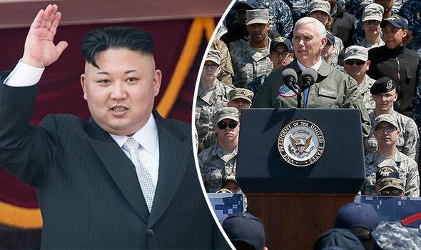 North Korea Kim Jong-un Mike Pence America